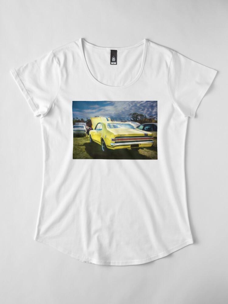 Alternate view of Yellow Holden HK Monaro GTS Premium Scoop T-Shirt