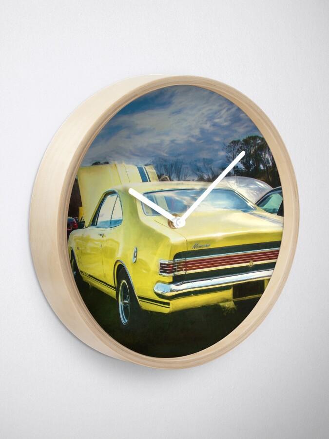 Alternate view of Yellow Holden HK Monaro GTS Clock