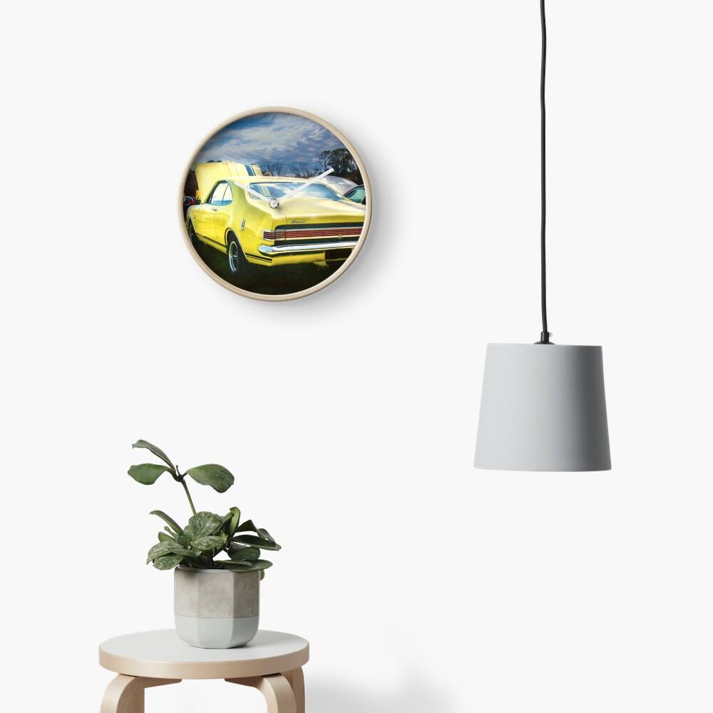 Yellow Holden HK Monaro GTS Clock