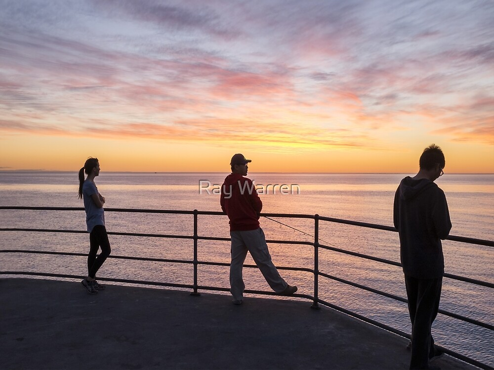 Watching, Fishing, Texting by Ray Warren