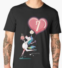 Unicorn 7 year old birthday girl Men's Premium T-Shirt