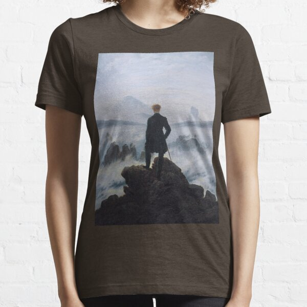Wanderer above the Sea of Fog by Caspar David Friedrich Essential T-Shirt