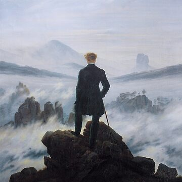 Wanderer above the Sea of Fog by Caspar David Friedrich by przezajac
