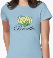 Yoga Breathe Womens Fitted T-Shirt