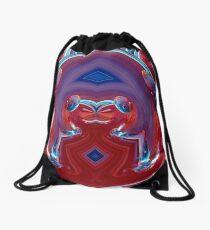 contemporary techno art 1010 Drawstring Bag