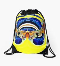 contemporary techno art 1014 Drawstring Bag