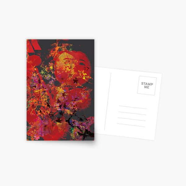 the spirit of the kokeshi Postcard