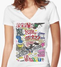 Broadway Shows collage Women's Fitted V-Neck T-Shirt