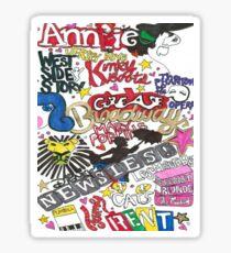 Broadway Shows collage Sticker