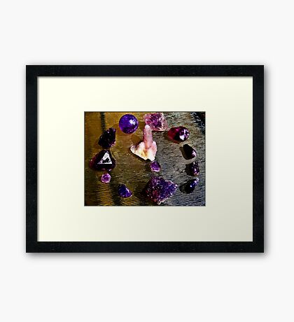 Third Eye /Minds Eye Chakra stones  Framed Print