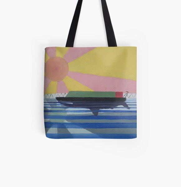 Dangerous Waters All Over Print Tote Bag