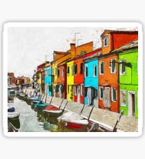 Burano, Italy Sticker