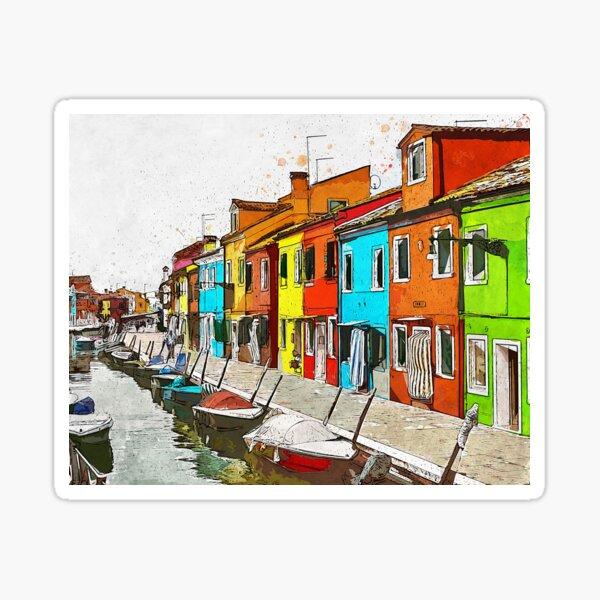 Burano, Italy Sticker