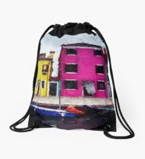 Burano, Italy Drawstring Bag