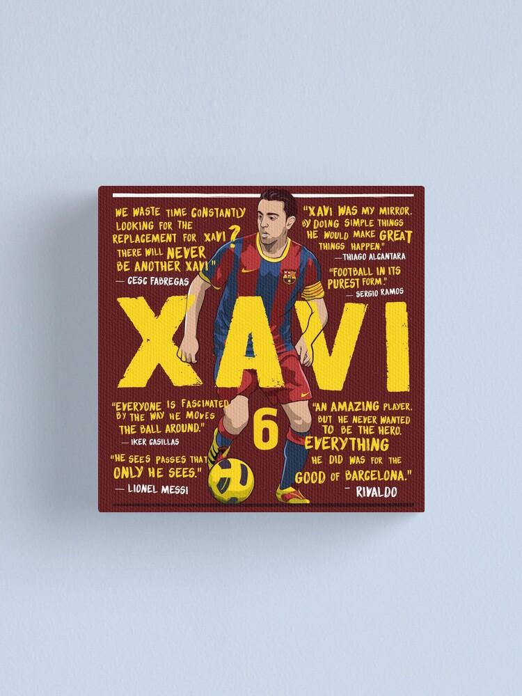 xavi fc barcelona quotes canvas print by kierancdesign redbubble