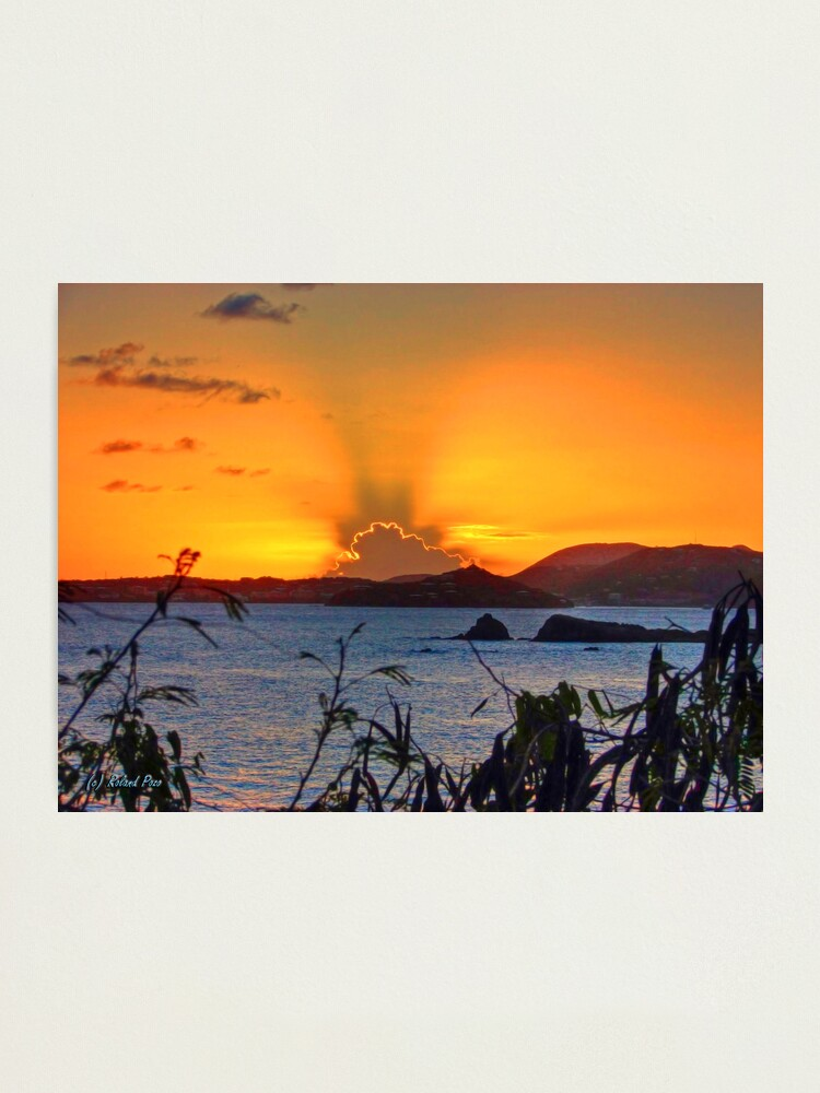 Alternate view of St. Thomas Sunset Photographic Print