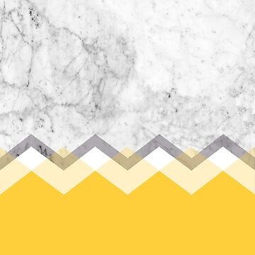 Mustard and Marble Graphic  by natalietyler