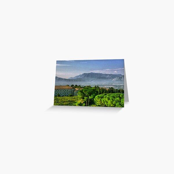 Vineyard in Monte Cassino Greeting Card