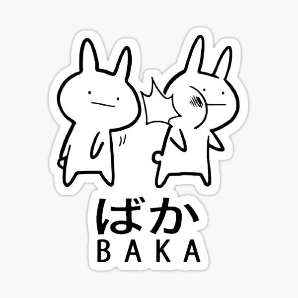 Funny Anime Baka Rabbit Slap  Sticker