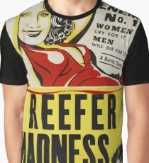 Reefer Madness Vintage Movie Poster Graphic T-Shirt