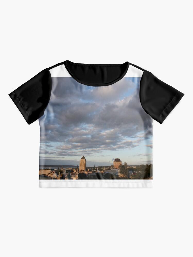 Alternate view of Quebec City, #QuebecCity, #Quebec, #City, #Canada, #buildings, #streets, #places, #views, #nature, #people, #tourists, #pedestrians, #architecture, #flowers, #monuments Chiffon Top