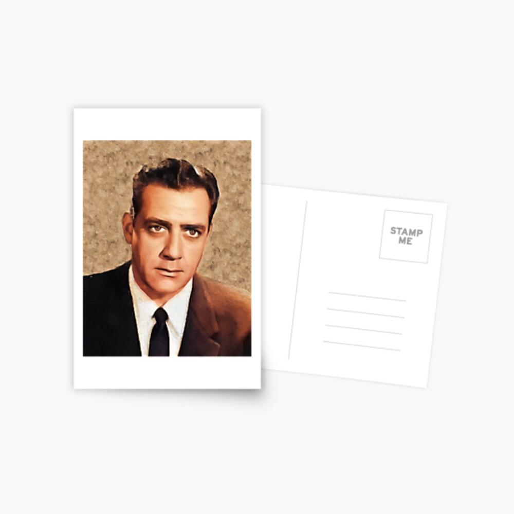Raymond Burr, Jahrgang Schauspieler Postkarte