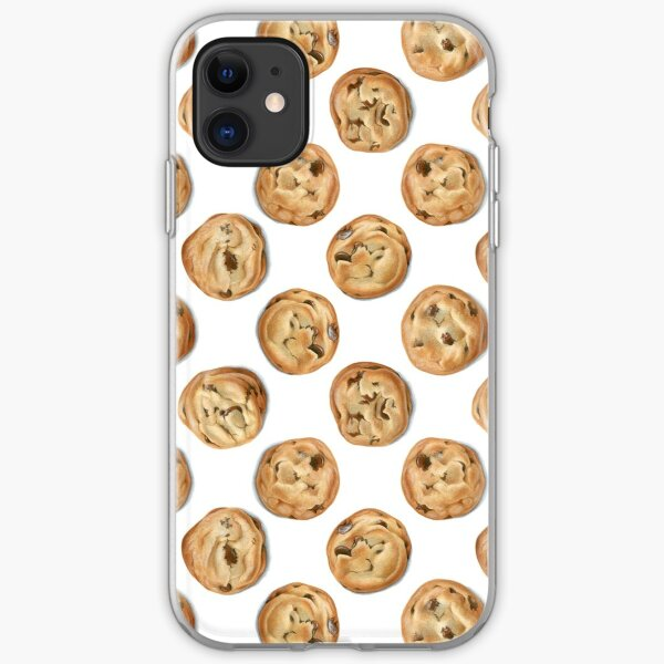 Chocolate Chip Cookie Polka Dots iPhone Soft Case