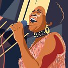 Aretha Franklin portrait  by Anyeva