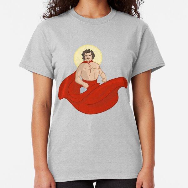 Saint Nacho Libre Superhero Pose with Flowing Red Cape Classic T-Shirt