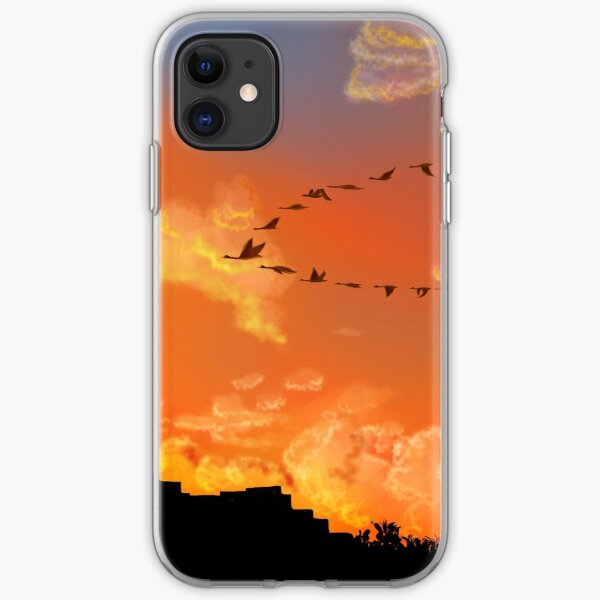 Flying in unison iPhone Soft Case
