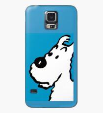 "Snowy(Tintin Dog ""Milou"") Blue  Case/Skin for Samsung Galaxy"