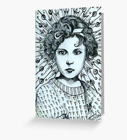 The Lollipop Girl  Greeting Card