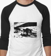 Sled Dogs in Prescott Park, Portsmouth, NH Men's Baseball ¾ T-Shirt