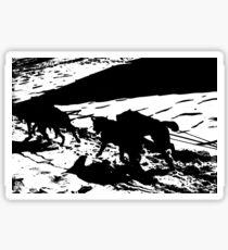 Sled Dogs in Prescott Park, Portsmouth, NH Sticker