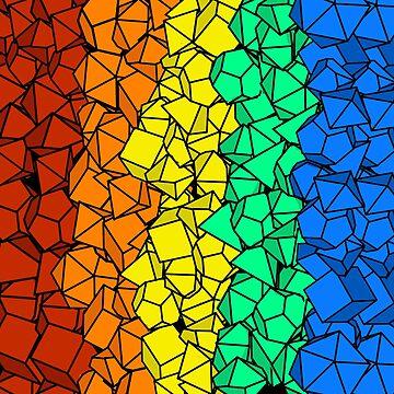 Rainbow Polyhedral Dice Design by BPAH