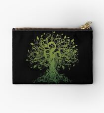 Meditate, Meditation, Spiritual Tree Yoga T-Shirt Studio Pouch