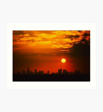 hot summer sky Art Print