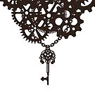 Gears and key chain by Anteia