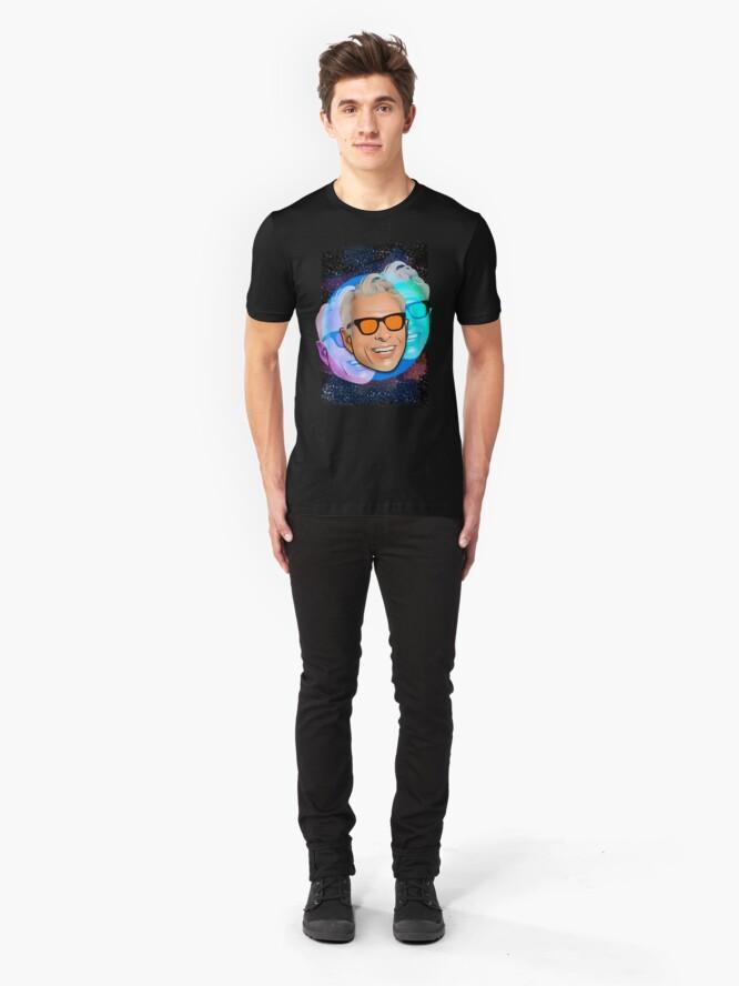 Alternative Ansicht von Kosmischer Goldblum Slim Fit T-Shirt