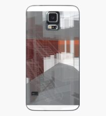 red, gray, orange, white, stairs and walls, abstract architectural drawings Case/Skin for Samsung Galaxy