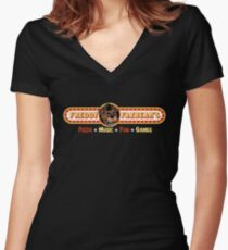 Freddy Fazbear's Pizza Logo T-shirt Women's Fitted V-Neck T-Shirt