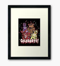 Fünf Nächte bei Freddy feiern! Gerahmtes Wandbild