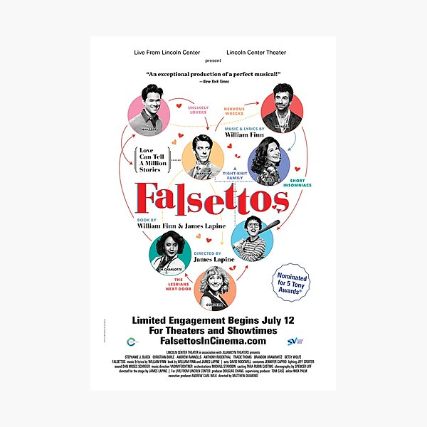 Falsettos in Theatres poster Photographic Print