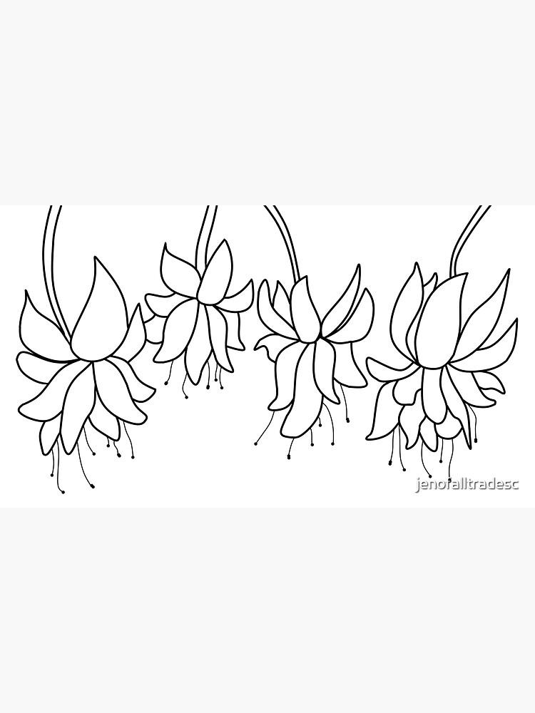 Botanical Line Art Digitized Drawing by jenofalltradesc