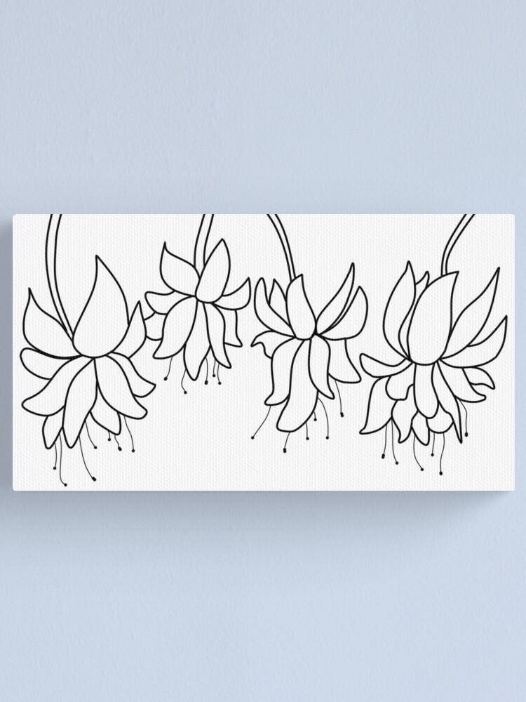 Alternate view of Botanical Line Art Digitized Drawing Canvas Print