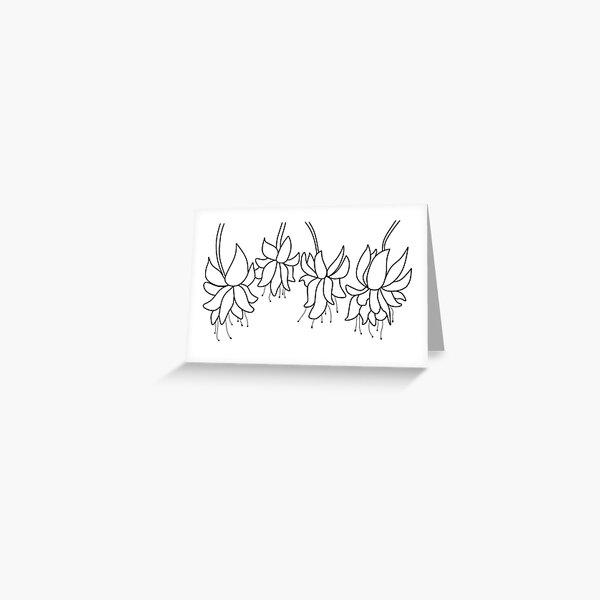 Botanical Line Art Digitized Drawing Greeting Card