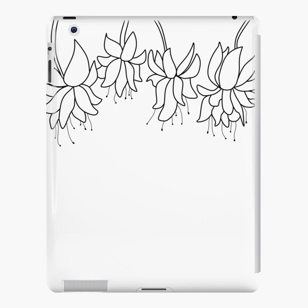 Botanical Line Art Digitized Drawing iPad Case & Skin
