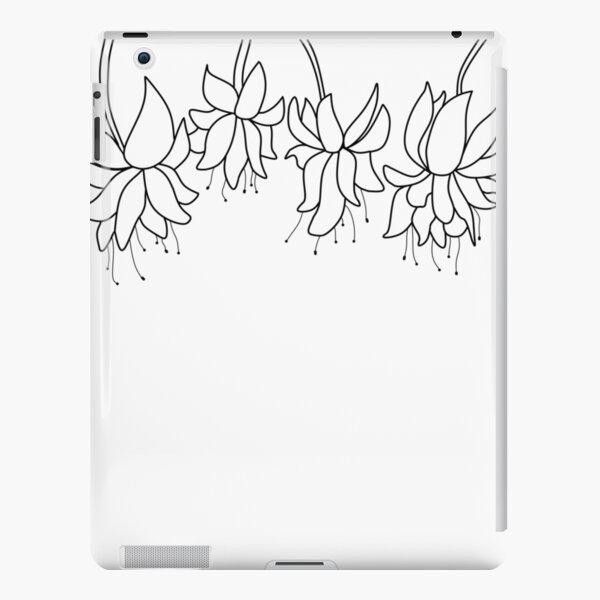 Botanical Line Art Digitized Drawing iPad Snap Case