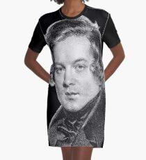 Robert Schumann - Great Romantic Composer Graphic T-Shirt Dress
