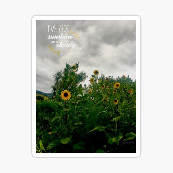 Sunshine On a Cloudy Day Sticker